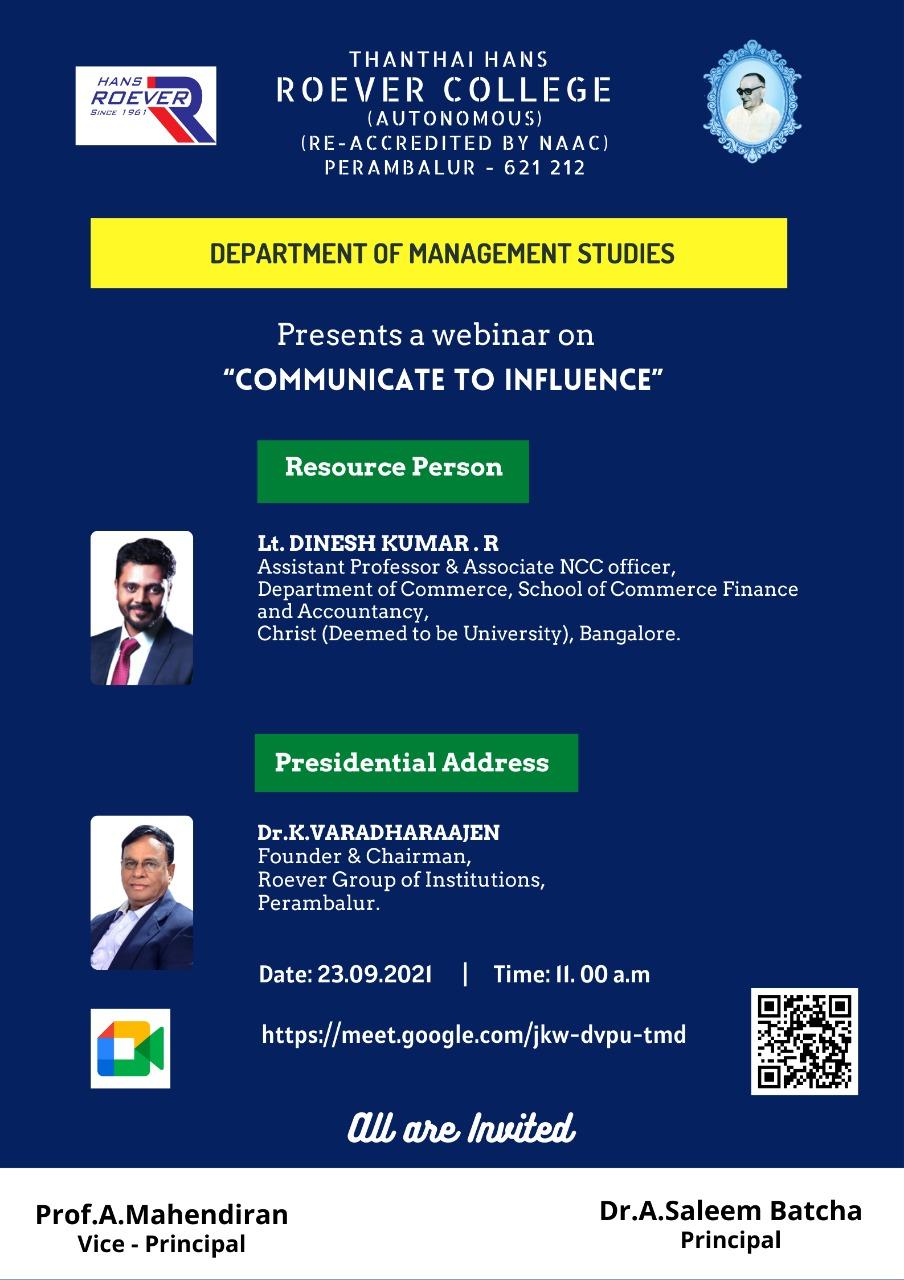 Webinar Organised by MBA